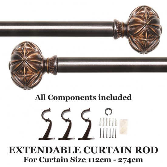 "Curtain Rod Cut Leaf (44'-108"")"