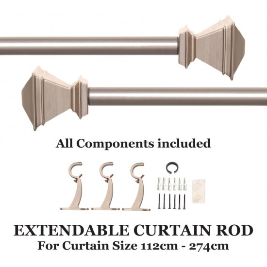 """Extendable Curtain Rod Inverted Square (44'-108"""")"""