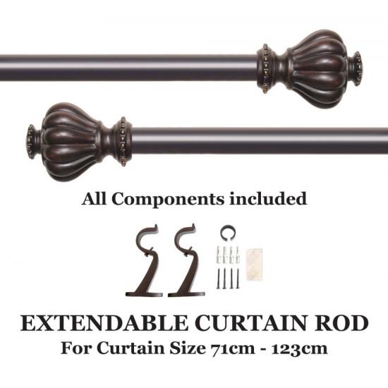 """Curtain Rod Wooden Surahi (28""""-48"""")"""