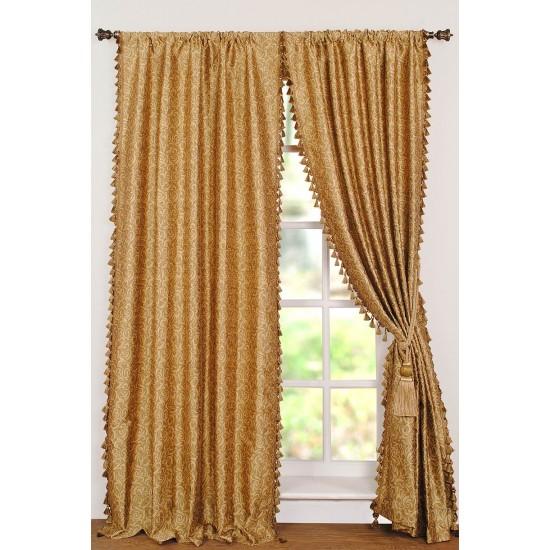 Curtain Jacquard Spiral Gold 9ft