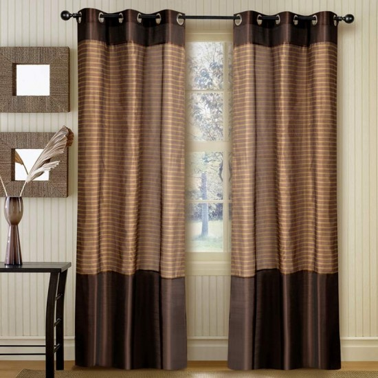 """Strip Band Curtain Turquoise 84"""""""