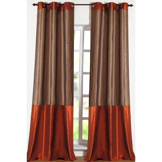 Curtain Stripband Chocolate 9ft