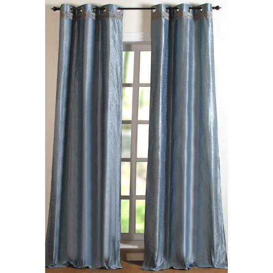 Hungama With Gimp Curtain Luster Steel 5ft