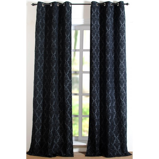 Curtain Victoria Black 5Ft