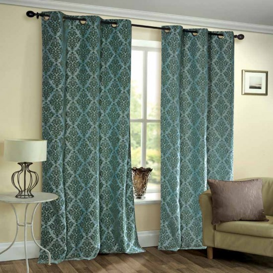 Curtain Victoria Light Blue 7 ft