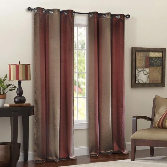 Curtain Thin Stripe Burgundy 8ft