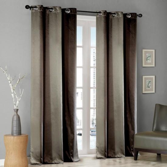 Curtain Thin Stripe Chocolate 8ft