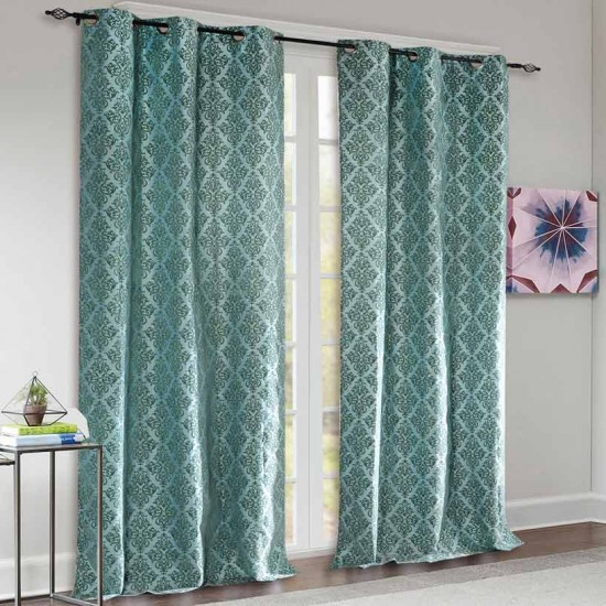 Curtain Victoria Light Blue 9ft