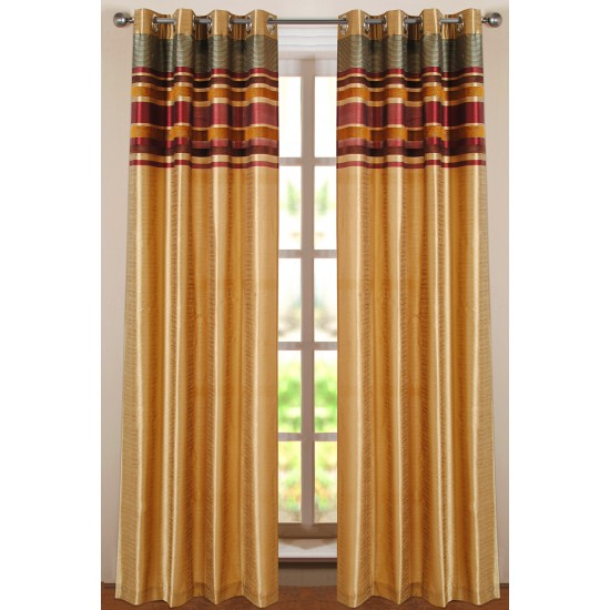 Curtain Poly band Gold 9ft