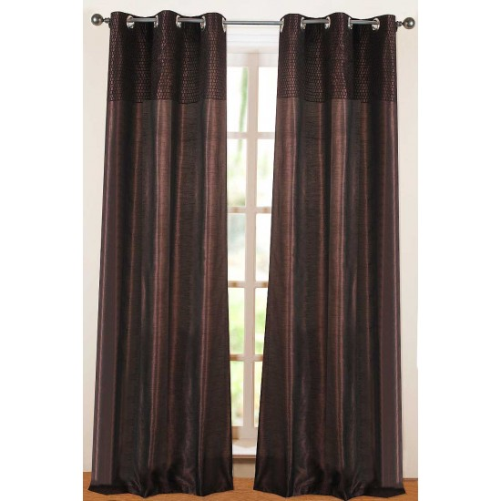 Solid Hungama Curtain Chocolate 96""