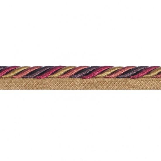 Bulian cord with lip 8mm cut velvet