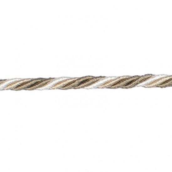 Bullion cord 5mm Dark Beige Mix