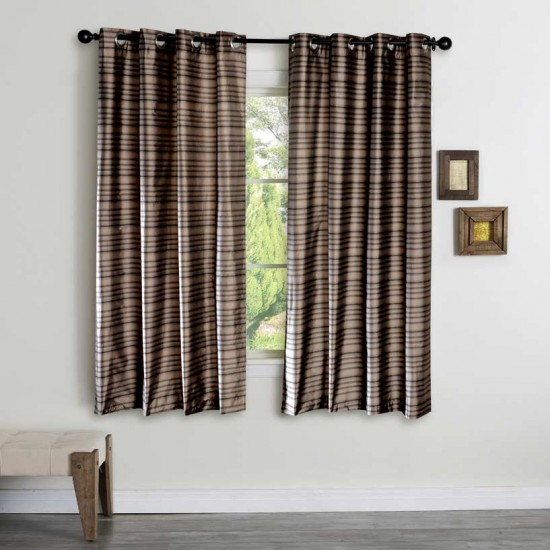 """Curtain Vaijanthi Dark Beige/Black 60"""""""