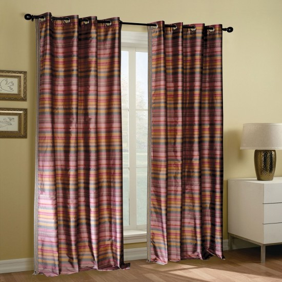 Curtain Bijuri Burn Rose 90""