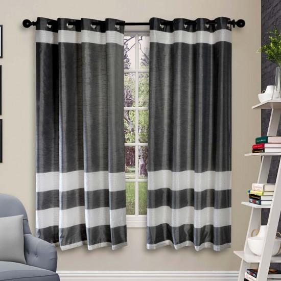 """Curtain Vaibhavi Grey 60"""""""