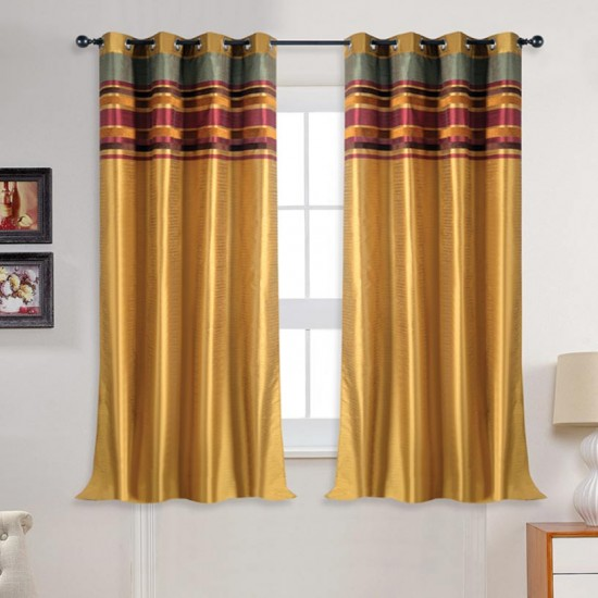 "Curtain Meghna Luxury Gold Mix 60"""