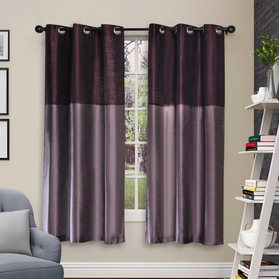 Curtain Tripti Grape Wine Mix 60""