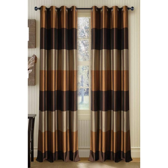 "Curtain Abhina Chocolate 108"""