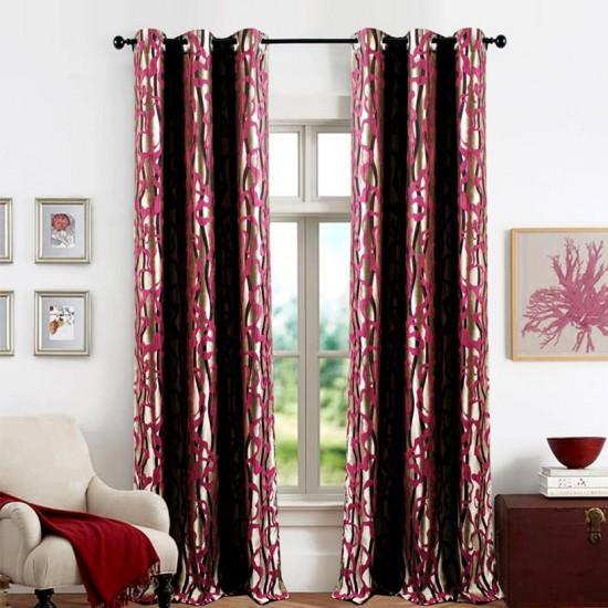 Single 5 ft Curtain Jacquard Wine Flow