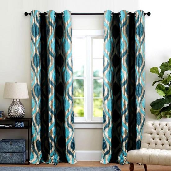 "Curtain Koma 96"" Turquoise"