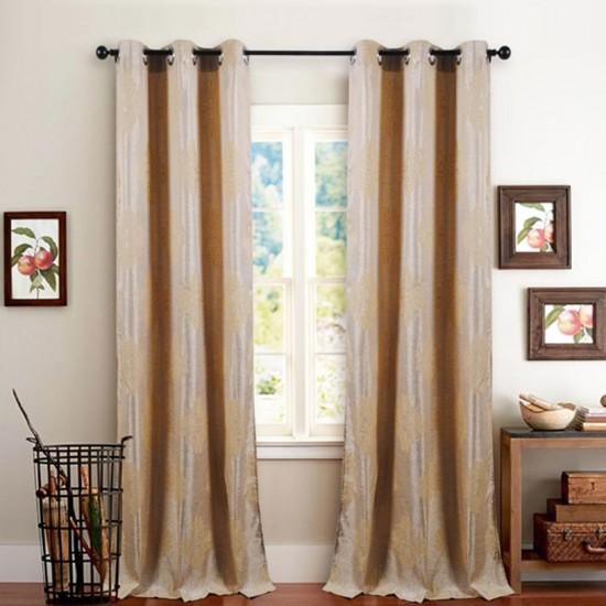 Single 7.5 ft Curtain Decor Champagne