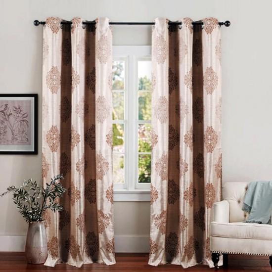 Single 7.5 ft Curtain Decor Dark Beige