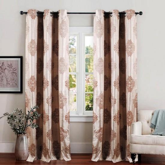 Single 5 ft Curtain Decor Dark Beige
