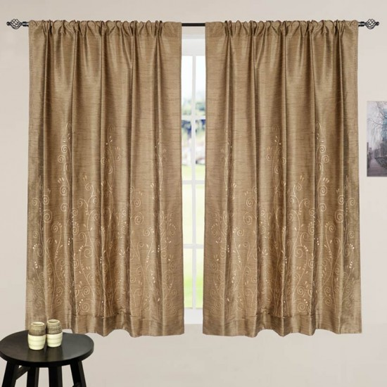 Curtain Neera Royal Brown 60""