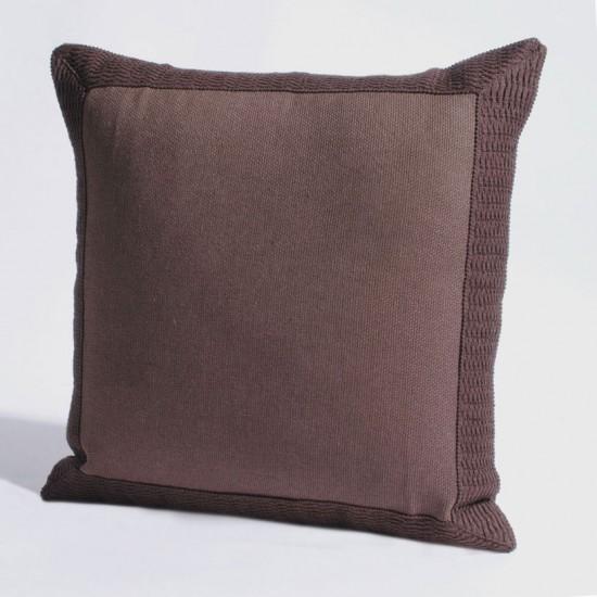 "Cushion Cover 16"" X 16"" Gaurika Chocolate"