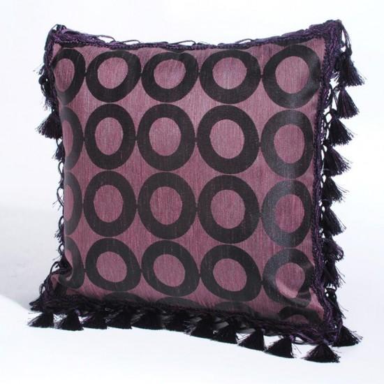 """Cushion Cover Pariniti 16"""" X 16 """" Burn Rose"""