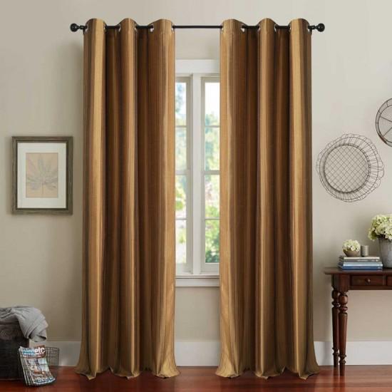 Curtain Multi Stripe Gold 7.5 ft