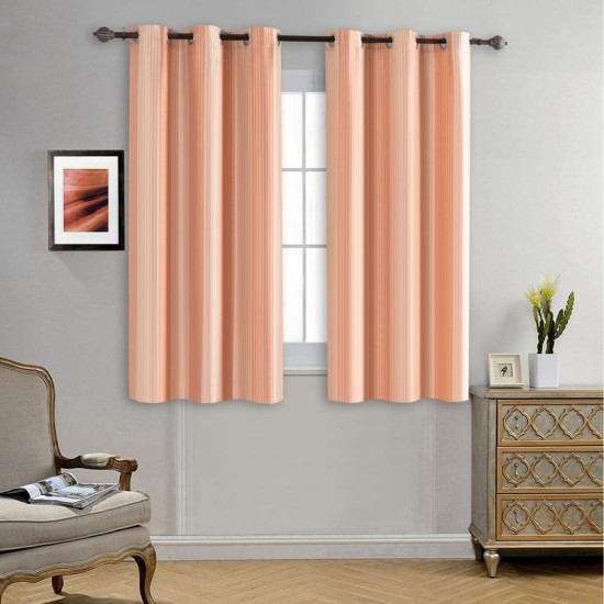 Curtain Multi Stripe orange Light Lime 5 ft_lifestyle