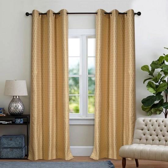 Curtain Tonal Stripe Oil Green 7.5ft (