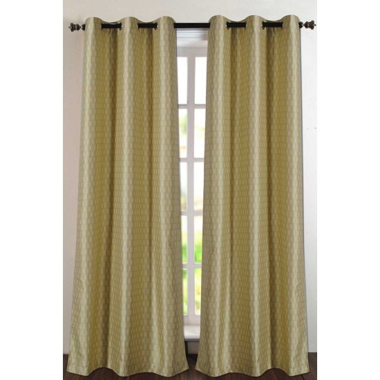 "Single Lining Curtain 46x90"" Sun Flower Tonal Stripe"