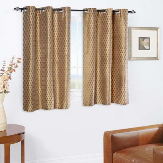 Curtain Tonal Stripe New Brown 5 ft (Curtain)