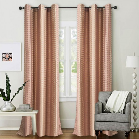 "Single Lining Curtain 46x90"" Burn Rose Dot Box"