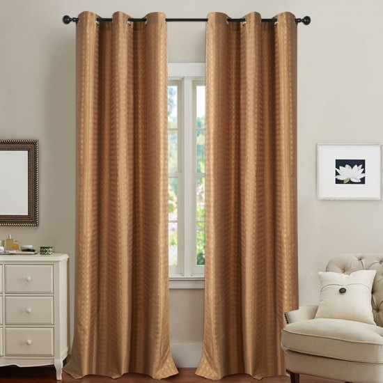 Curtain Dot Box Dark Gold 5 ft
