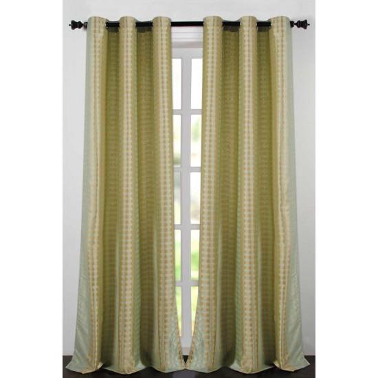 "Single Lining Curtain 46x60"" Teal Dot Box"