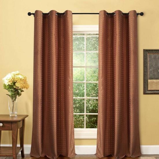 "Single Lining Curtain 46x60""  Lt Trrcota Dot box"