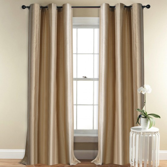 Curtain Broad Stripe Beige 5 ft