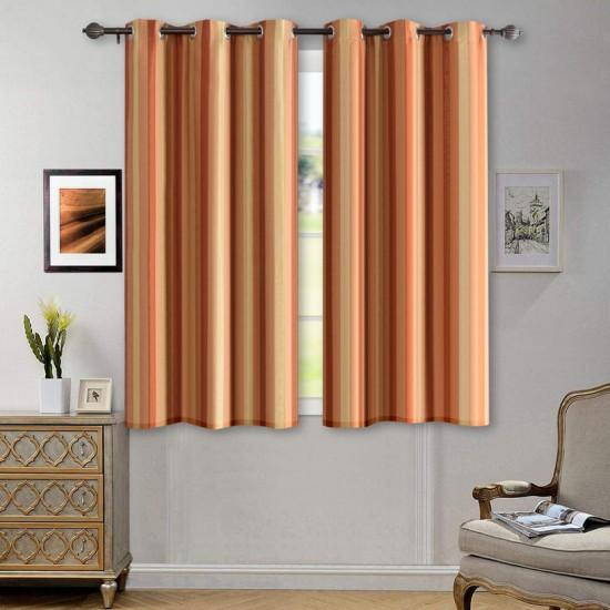 Curtain Broad Patti Dark Terracotta 5 ft