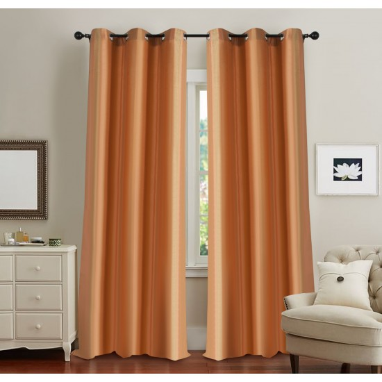 Curtain Broad Stripe Orange 5ft (Curtain)