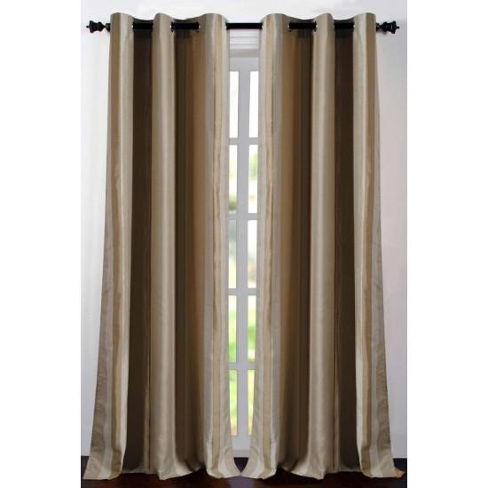 "Single Lining Curtain 46x90"" Beige Extra Broad Stripe"