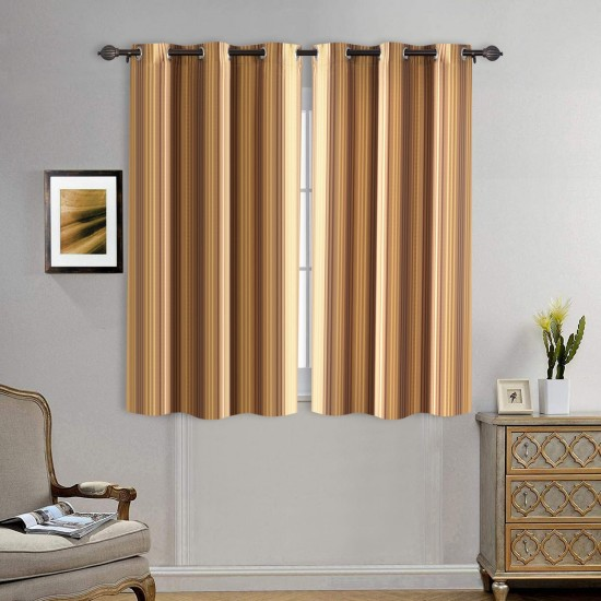 Curtain DUO Stripe Gold Brown Mix 5ft