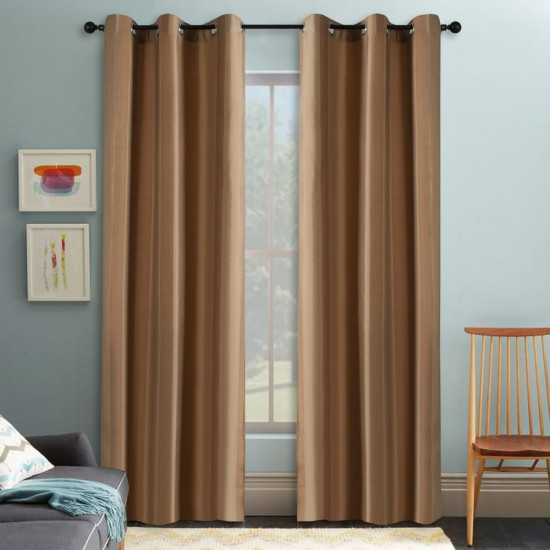 Curtain Summer Stripe Milk Choco 5 ft