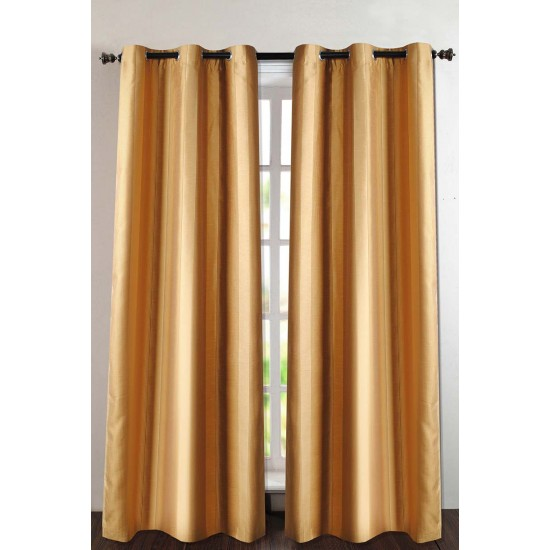 "Single Lining Curtain 46x90"" Dark Gold Summer Stripe"