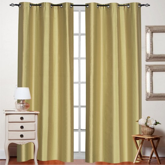 Curtain Summer Stripe Amber Green 7.5 ft