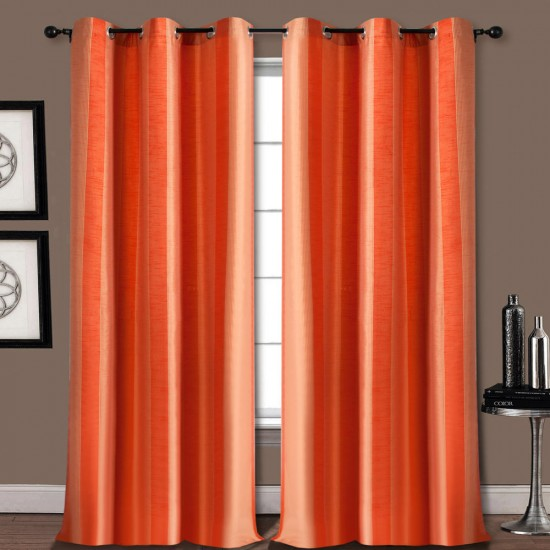 Single Curtain Summer Stripe Aporange 7.5 ft