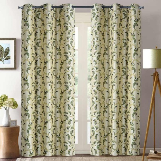 """Curtain Maple Polyester 46""""X90"""" Olive"""