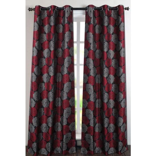"Curtain Flora Poly 96"" Black"